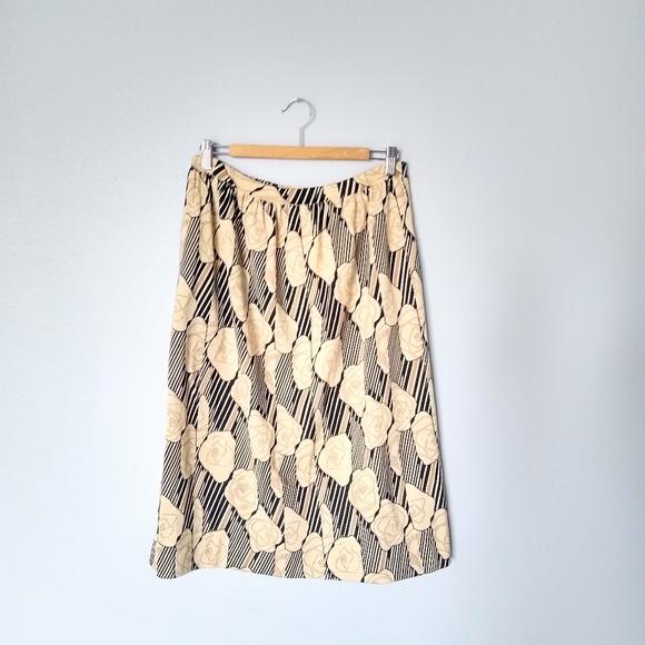 1970s Vintage Merino Wool Goldworm Skirt